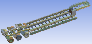 3D CAD Model of a semi-trailer