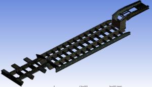 Finite element model of a semi-trailer frameFinite element model of a semi-trailer frame