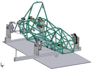 Torsion testing assembly model
