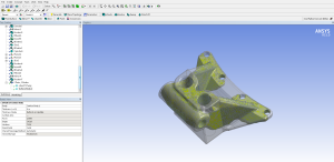 Export of the optimized shape for the aerospace mounting bracket