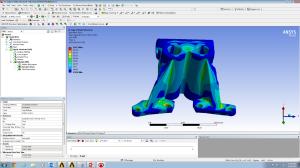 Stress analysis on the optimised shape