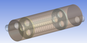 ANSYS muffler model