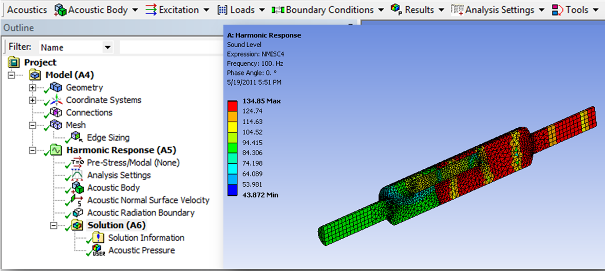 ANSYS Mechanical Acoustics Set-up