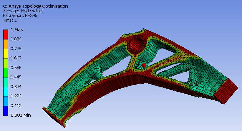 ANSYS Topology Optimisation Average node values