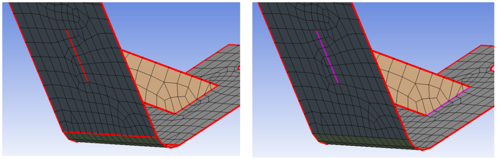 Results of automatic meshing in ANSYS 17.0