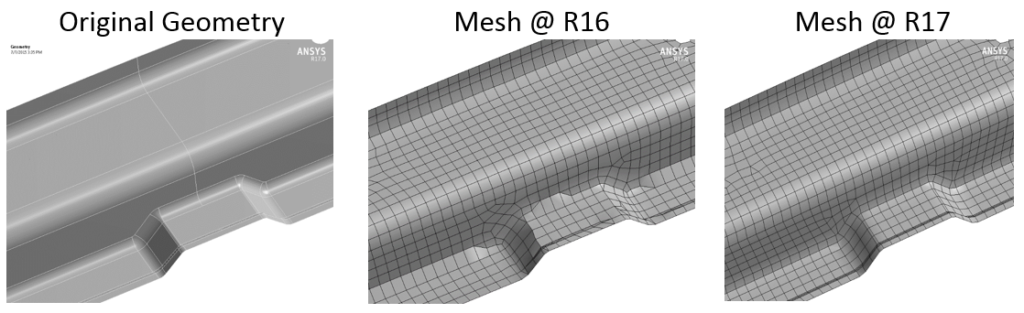 Improved shell meshing for better structured meshes