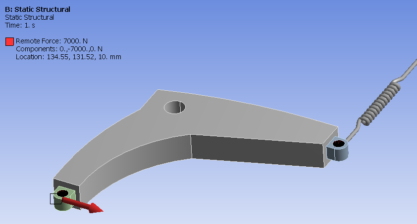 static structural of a spring joint in ANSYS 17.0