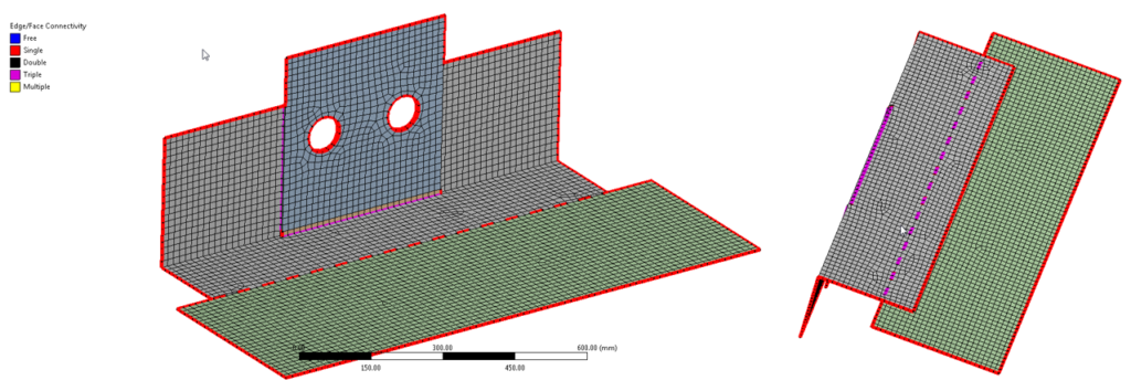 Weld Tool added to SCDM and DM to create weld bodies connecting adjacent surfaces