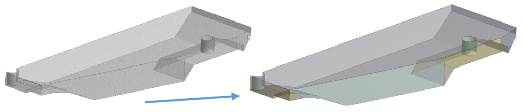Detach operation added to split large surface bodies into multiple surface bodies