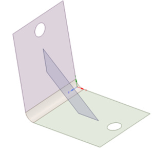 Bracket model for analysis in ANSYS
