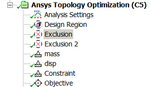 ANSYS 17.0 Topology Optimisation Design Modeller completed setup