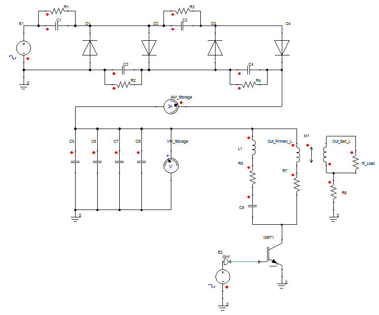 Lumped Element circuit model of a simple energizer