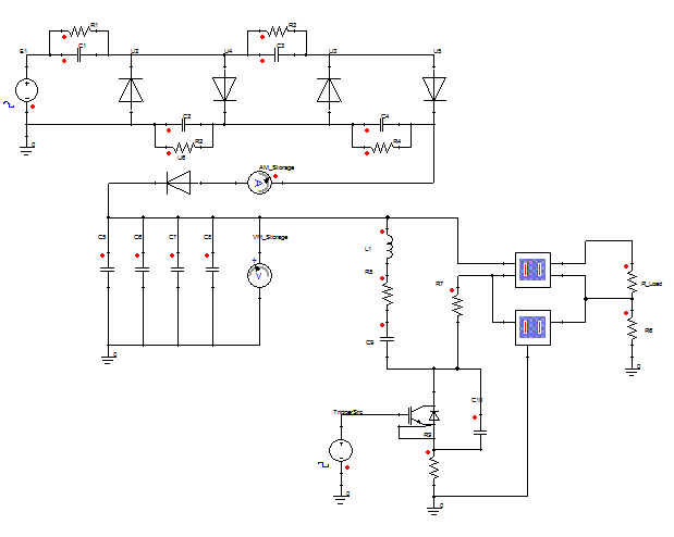 Circuit simulation with characterised components