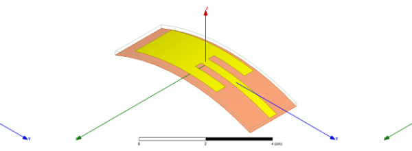 Wearable Conformal Antenna Design in Presence of the ANSYS Human Body Model