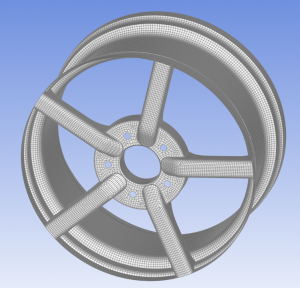 Wheel geometry in ANSYS Composite PrePost